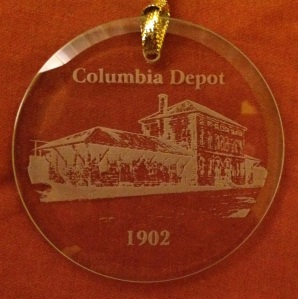 The 2015 Maury Christmas Ornament featuring the Columbia Depot. Ornaments are $15 and can be purchased NOW at the Athenaeum!